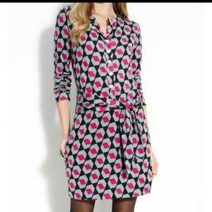 Diane von Furstenberg silk geo print shirtdress
